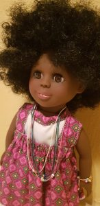 Hunadi the afro girl doll